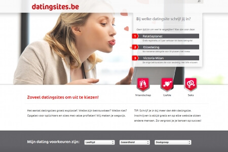 De website van Datingsites